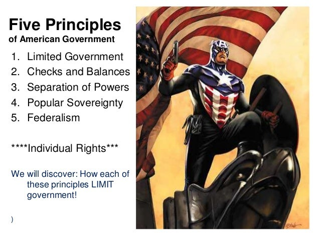 the principles of the american government A summary of american political ideals in 's american political culture  a limited government usually has a constitution that defines the limits of governmental.