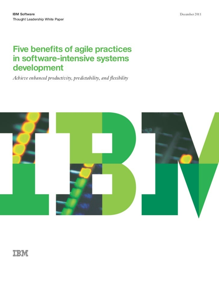 IBM Software                                                     December 2011Thought Leadership White PaperFive benefits ...