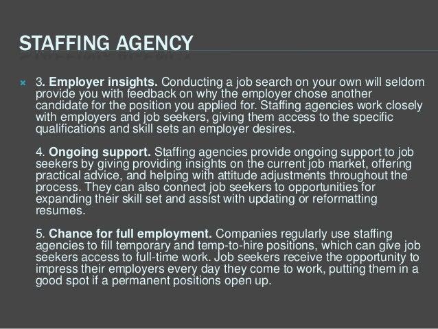 five benefits of job seeking through a staffing agency