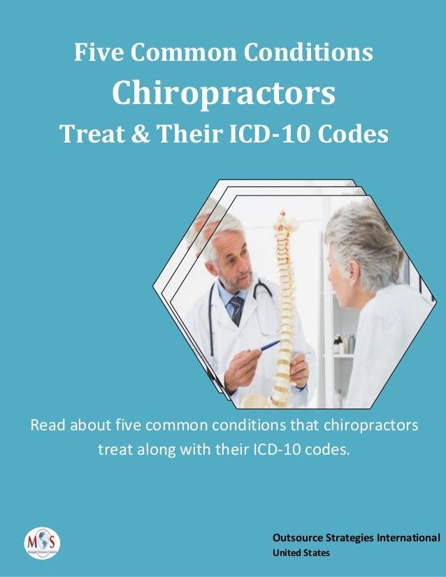 Five Common Conditions Chiropractors Treat & Their ICD-10 Codes Read about five common conditions that chiropractors treat...