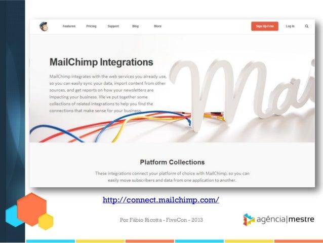 http://connect.mailchimp.com/ Por Fábio Ricotta - FiveCon - 2013