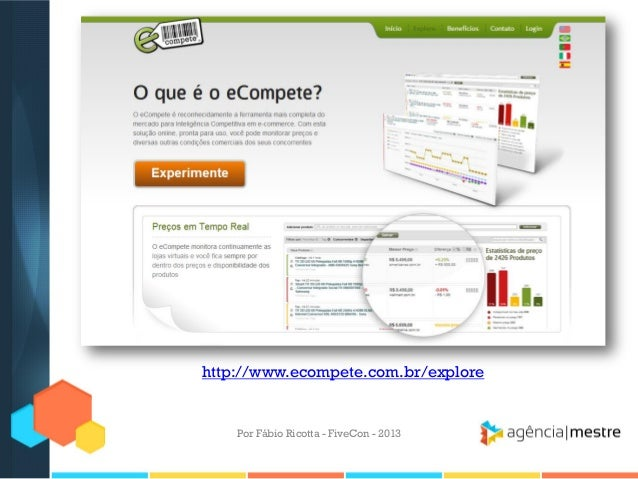 http://www.ecompete.com.br/explore  Por Fábio Ricotta - FiveCon - 2013