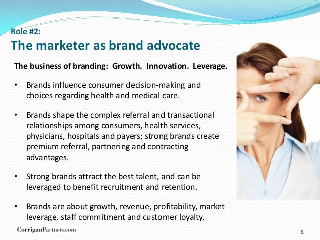 the role of healthcare marketing in The changing role of healthcare marketing much has changed in 2010 one could say a titanic shift that has created a tsunami that is in its early.