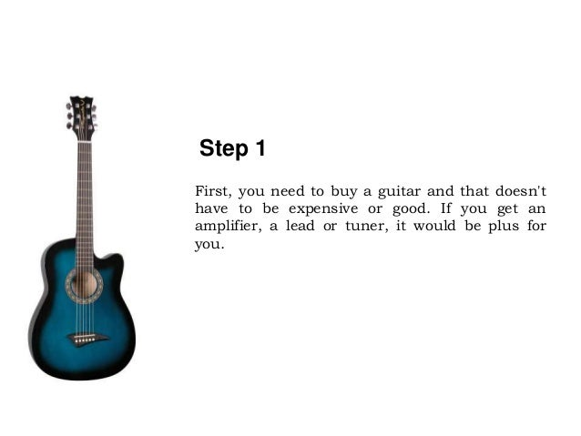 Five Easy Steps To Learn Electric Guitar