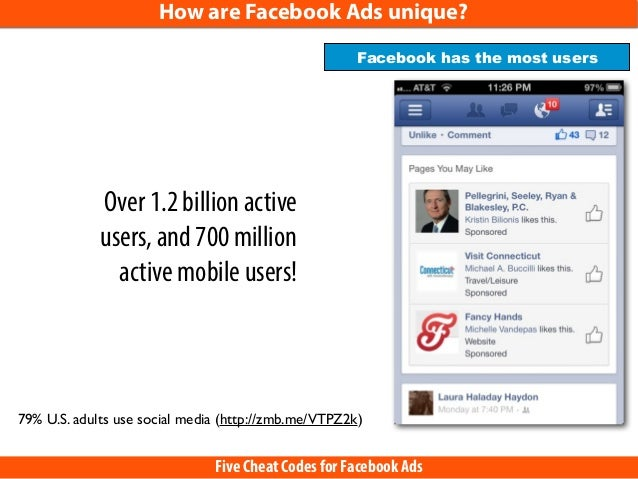 5 Cheat Codes for Facebook Ads