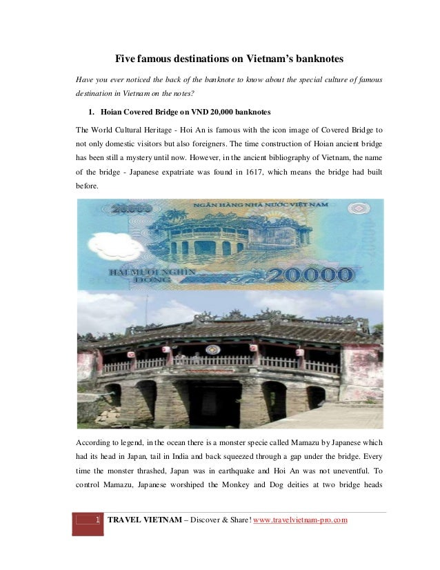 Five famous destinations on Vietnam's banknotes Have you ever noticed the back of the banknote to know about the special c...