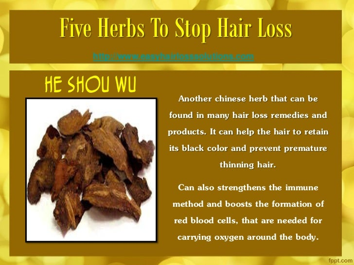 chinese herb for hair regrowth