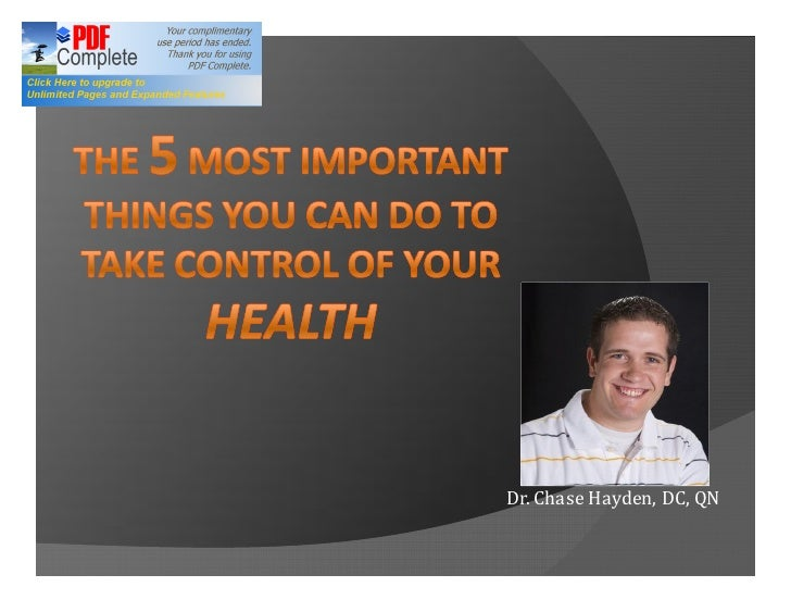 Dr. Chase Hayden, DC, QN