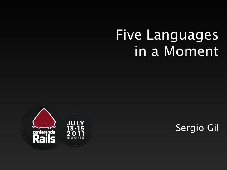 Five Languages   in a Moment        Sergio Gil