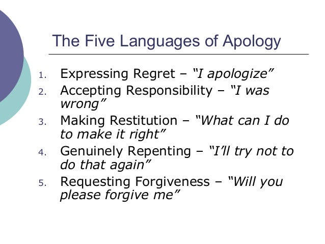 5 languages of apology summary