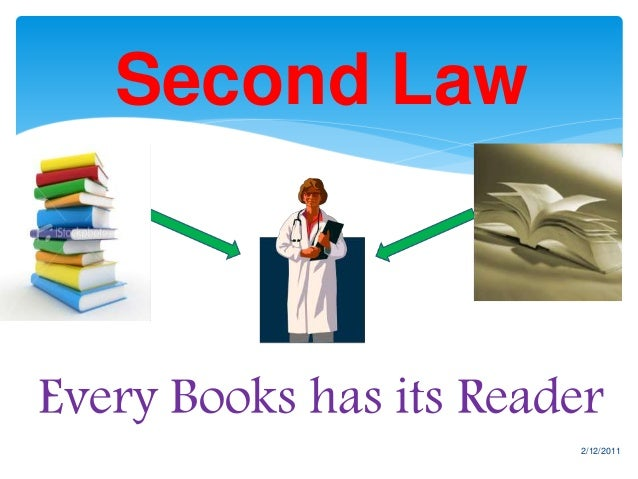 Five laws of Library Science by S R Ranganathan Slide 3