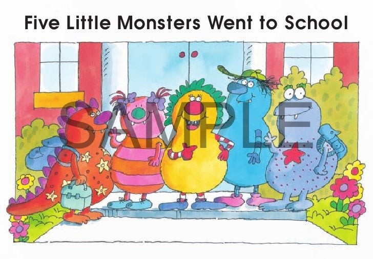 Five Little Monsters Went to School   SAMPLE