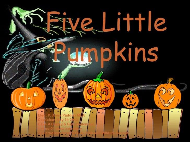 Five Little Pumpkins Edit P Anna Paddon 10 02 2012
