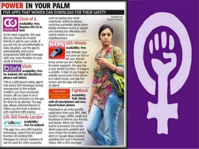 Five mobile applications for women safety