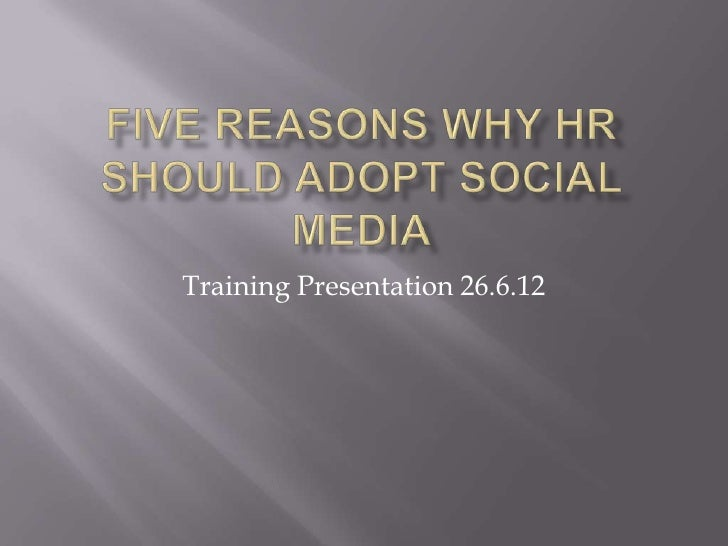 Training Presentation 26.6.12
