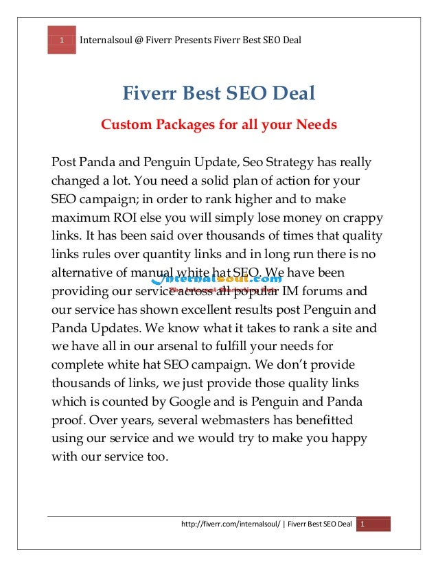 1 Internalsoul @ Fiverr Presents Fiverr Best SEO Deal http://fiverr.com/internalsoul/ | Fiverr Best SEO Deal 1 Fiverr Best...