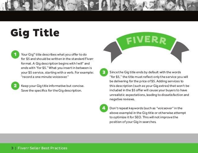Fiverr Seller Best Practices Slide 3
