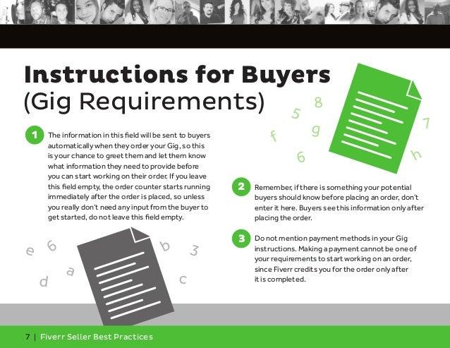 Fiverr Seller Best Practices