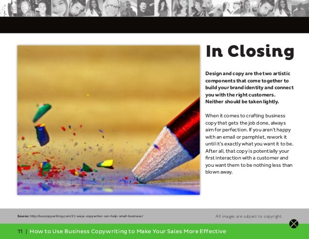 11 | How to Use Business Copywriting to Make Your Sales More Effective In Closing Design and copy are the two artistic com...