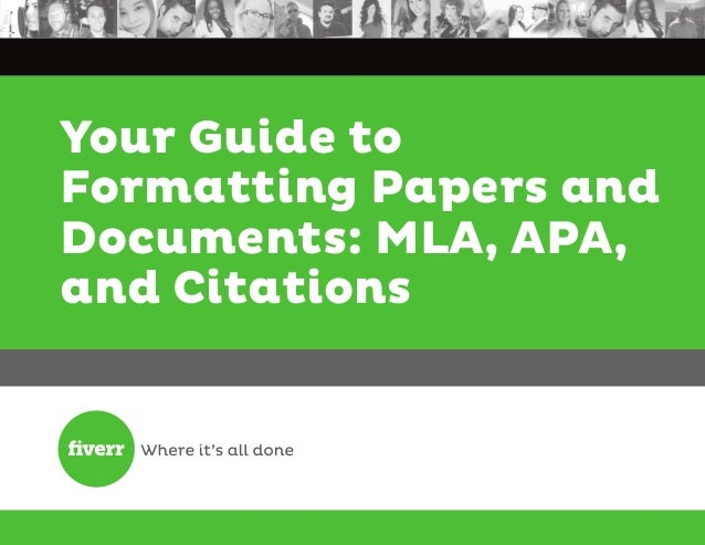 Your Guide to Formatting Papers and Documents: MLA, APA, and Citations