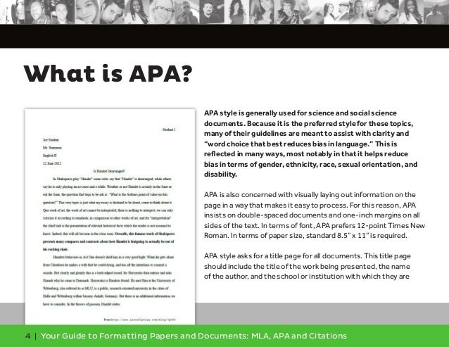 apa style term paper format