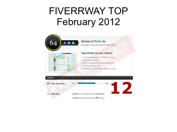 FIVERRWAY TOP  February 2012