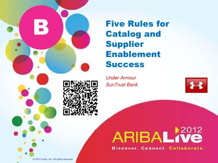 B                                         Five Rules for                                          Catalog and             ...