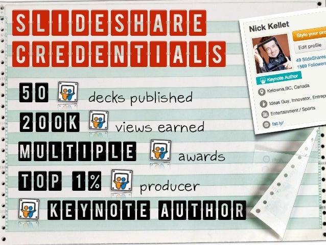 Five Slideshare Truths: Part I (Lessons from Authoring 50 Decks & Earning 200k Views Slide 2