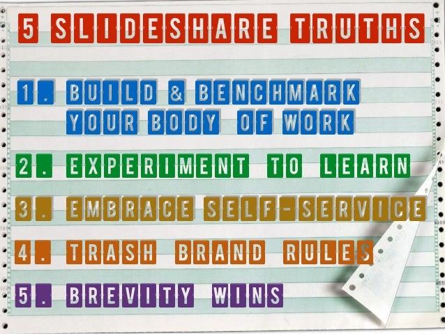 Five Slideshare Truths: Part I (Lessons from Authoring 50 Decks & Earning 200k Views Slide 3