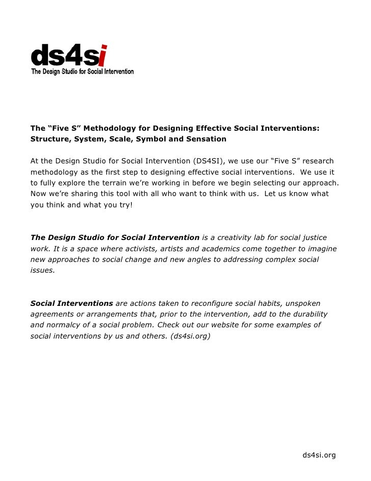 "The ""Five S"" Methodology for Designing Effective Social Interventions:Structure, System, Scale, Symbol and SensationAt the..."