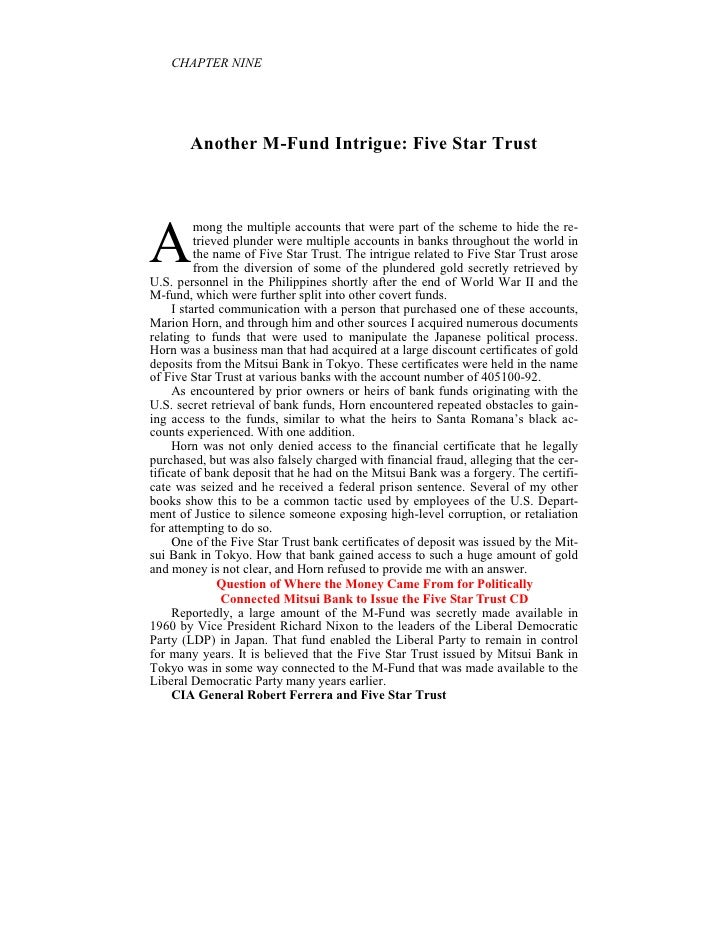 CHAPTER I E       Another M-Fund Intrigue: Five Star TrustA          mong the multiple accounts that were part of the sche...