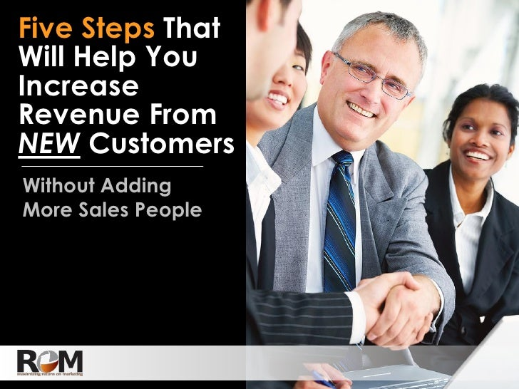 Five Steps That Will Help Increase Revenue