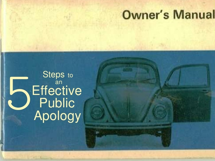 Steps   to  an Effective   Public  Apology   5