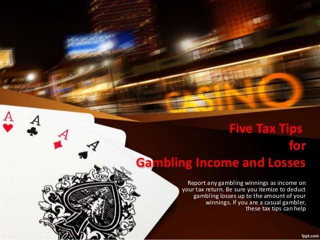 Can deduct gambling losses gambling machine slot