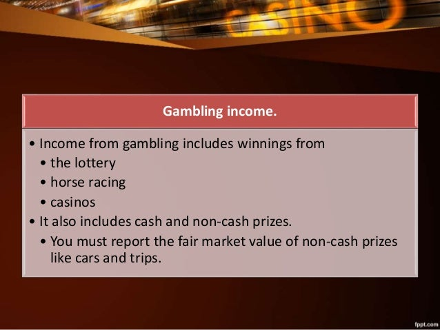 Gambling income and losses online autio