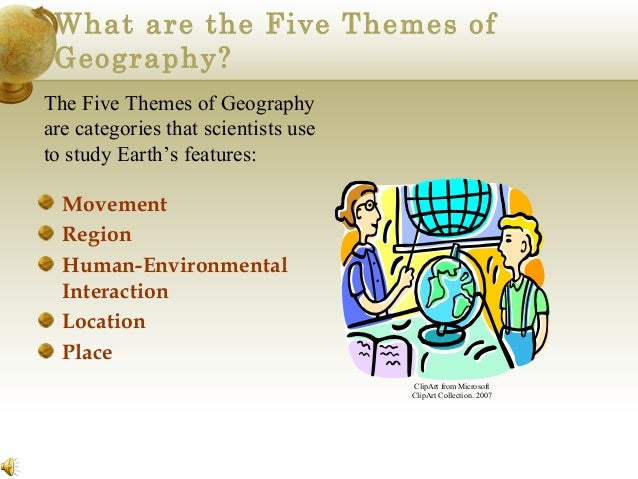 5 themes of geography region