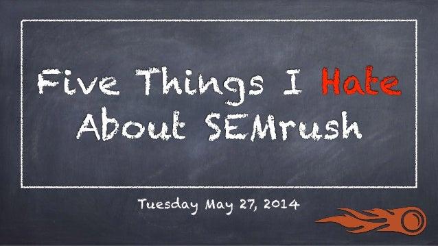 #1. SEMrush Doesn't Have Enough Data.