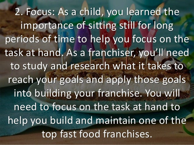need and importance of franchise