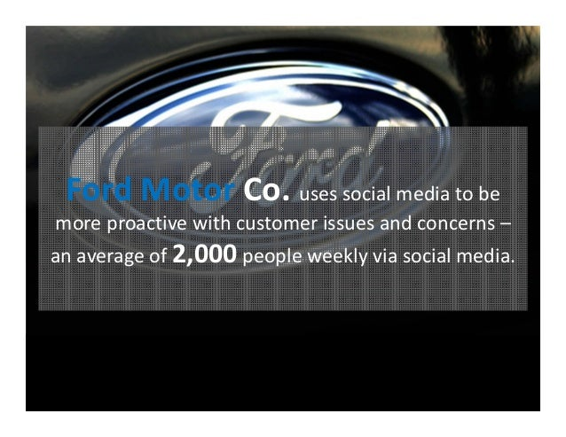 How to create a cohesive social media marketing plan for Ford motor company marketing strategy