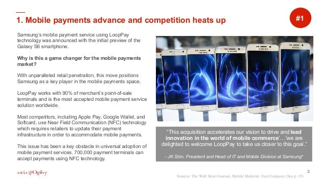 """3 """" """" Samsung's mobile payment service using LoopPay technology was announced with the initial preview of the Galaxy S6 sm..."""