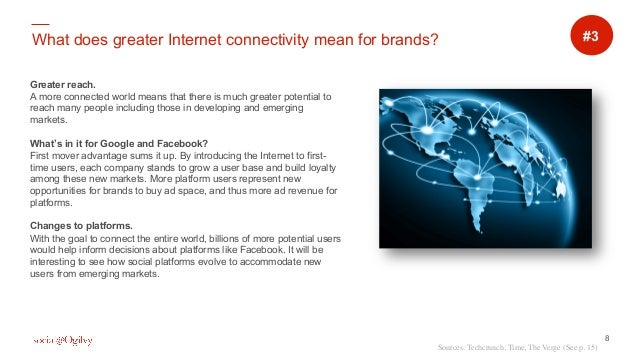 8 What does greater Internet connectivity mean for brands? Greater reach. A more connected world means that there is much ...
