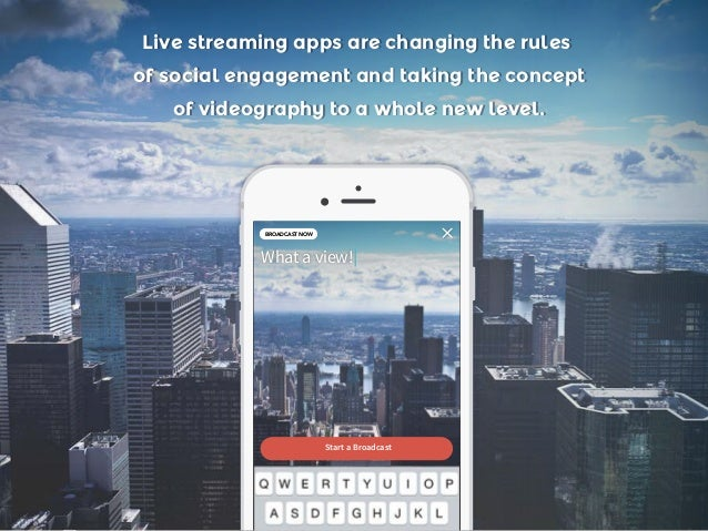 Live streaming apps are changing the rules of social engagement and taking the concept of videography to a whole new level...