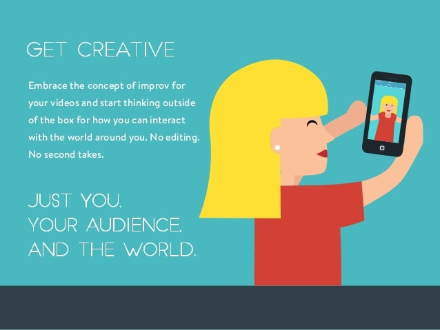 Embrace the concept of improv for your videos and start thinking outside of the box for how you can interact with the worl...