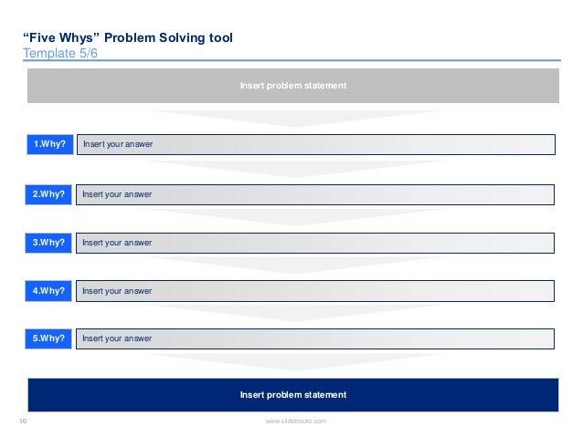 Five whys problem solving templates insert your answer insert problem statement 10 maxwellsz