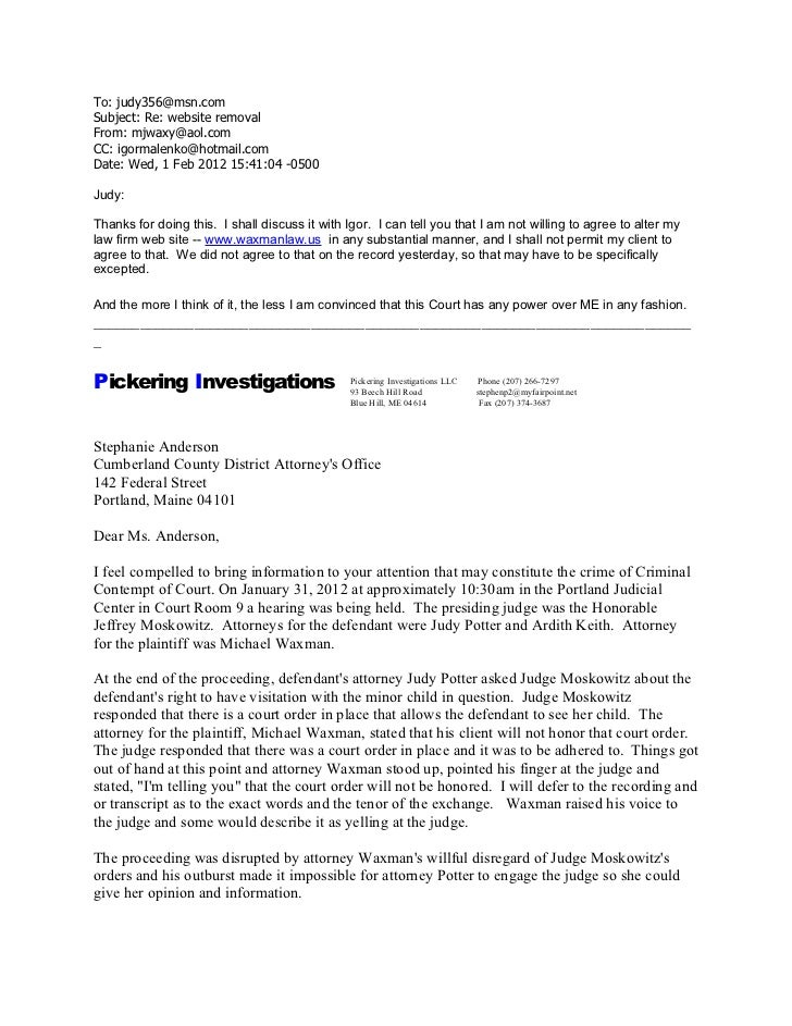 To: judy356@msn.comSubject: Re: website removalFrom: mjwaxy@aol.comCC: igormalenko@hotmail.comDate: Wed, 1 Feb 2012 15:41:...