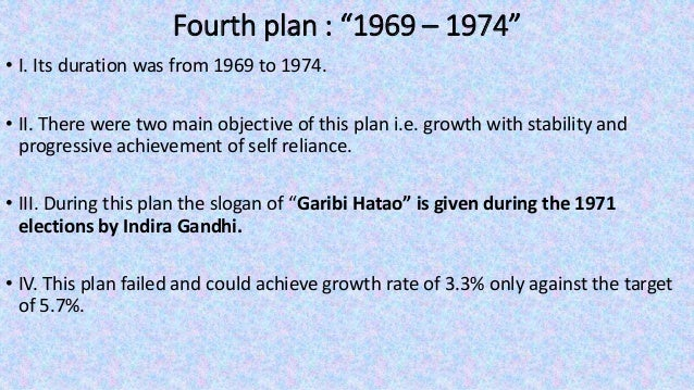 """Sixth plan : """"1980– 1985"""" • I. Its duration was from 1980 to 1985. • II. The basic objective of this plan was poverty erad..."""