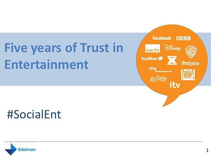 Five years of Trust in Entertainment<br />#SocialEnt<br />