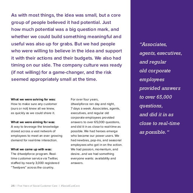 25   Five Years of Social Customer Care   #SocialCustCare As with most things, the idea was small, but a core group of peo...