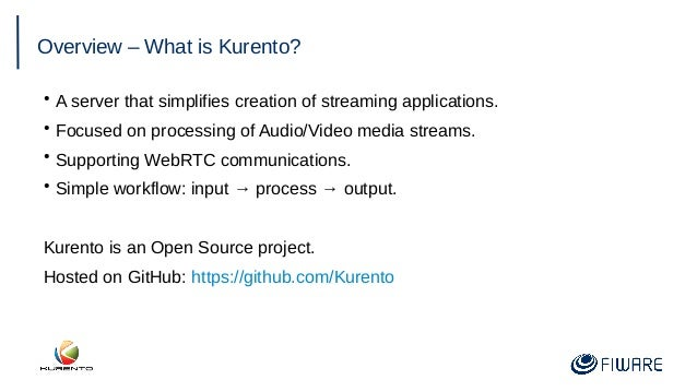 FIWARE Global Summit - Real-time Media Stream Processing Using Kurento