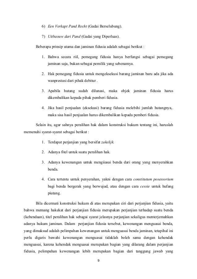 Surat Perjanjian Gadai Mobil Yang Masih Kredit Kumpulan Contoh Surat
